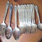 Oneida Ballad Country Lane Forks Serving Spoon Lot 16 Silver Plated Flatware