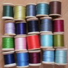 Wooden Spools Thread Lot Vintage Belding Corticelli J&P Coats Clark 125yd sz 50 Lot#1