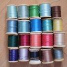 Wooden Spools Thread Lot Vintage Belding Corticelli J&P Coats Clark 125yd #2