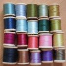 Wooden Spools Thread Lot Vintage Belding Corticelli Talon Star 125yd #3