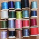 Wooden Spools Thread Lot Vintage Belding Corticelli Talon Coats Clark 125yd #4