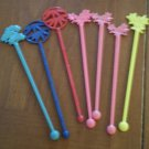 Vintage Swizzle Stick Japan Airlines JAL Plastic Lot 7 Air Lines