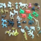 Lot Plastic Animals Farm Zoo Wild Miniature Vintage