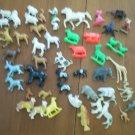Lot Plastic Animals Farm Zoo Wild Miniature Vintage
