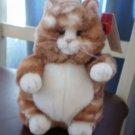 "Russ Berrie Prudence Cat Plush Tabby 8"" Stuffed Toy Kitten"