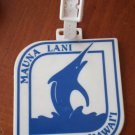 Golf Bag Tag Mauna Lani Hawaii Francis H I'i Brown Resort Kohala Coast