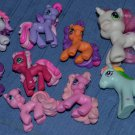 My Little Pony FIgures Lot Ponyville 2006 Attached Legs 2004 2008 Hasbro
