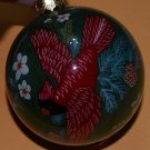 Cardinal Ball Ornament Red Bird Glass Christmas Decor 2.75in