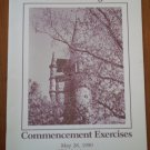Oberlin College Commencement Exercises Program 1990 Ohio