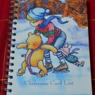 Disney Winnie the Pooh Christmas Card List Notebook Spiral Hardcover Tri Coastal
