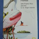 Close Up USA Map 9 Florida Puerto Rico Virgin Islands National Geographic 1986
