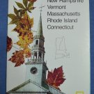 Close Up USA Map 12 New Hampshire Vermont Mass Rhode Island Connecticut National Geographic 1986
