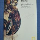 Close Up USA Map 13 Maine Maritime Provinces Canada National Geographic 1986