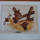 Fred Sweney Bobwhite Quail Foil Print Vintage Bob White Bird