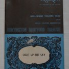 Playgoer Light Up The Sky Huntington Hartford Theatre 1971 Hollywood Wing