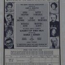 Light Up The Sky Moss Hart Flier 1971 Huntington Hartford Theatre Hollywood Anne Baxter