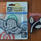 Rubber Stampede Decorative Stamping Lot 2 Angel Flower
