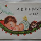 Charlot Byi Baby Birthday Card Vintage A Birthday? Relax Coronation Collection
