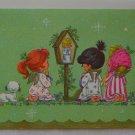 Vintage Coronation Collection Christmas Card Green Praying Angels 22-1-04