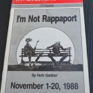I'm Not Rappaport La Mirada Civic Theatre 1988 Program