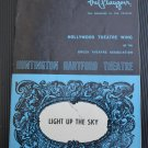 Playgoer Hollywood Theatre Wing Light Up The Sky Huntington Hartford 1971