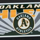 Oakland Athletics Bumper Sticker Tag Express MLB 199511x3
