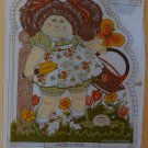 Cabbage Patch Kid Panel Fabric Pillow 1983 Flower Garden Appalachian Artworks