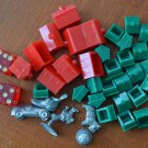Monopoly Game Pieces Tokens Dice Hotel House Dog Shoe Thimble Car Horseback Man