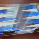 Backgammon Plastic Clear Steven Al Hartzell Handcrafted Vintage Board