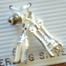 Jezlaine Charm Wine Bottle Corkscrew Cork Stopper Sterling Silver 925 New