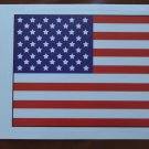 American Flag Static Stickers Car Window USA Old Glory 7.75x5.25 Cling Decal