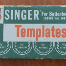 Singer Buttonholer Templates Vintage 160506 160743 Sewing Machine Part
