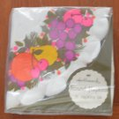 "Hallmark Round Napkins Scalloped 20/pkg Vintage New Fruits 13""  Diameter"