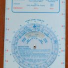 Chevron Flight Guide 1971 World Air Sectional Chart Plastic Vintage