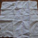Vintage Hanky Madeira Desco Ivory Handkerchief Linen Portugal