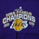 Lakers Basketball 2009 NBA Finals Champions Purple T-Shirt Adult Large Gildan
