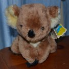 "Dakin Kimmy Koala Stuffed Animal Bean Bag 1978 28-0446 Tag 6"" Brown Vintage Bear"