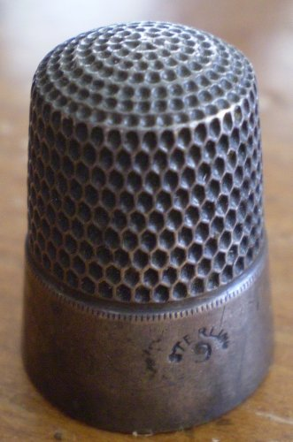Vintage Sterling Silver Thimble Size 9 Bell Mark