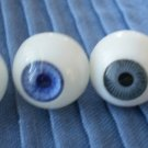 Doll Plastic Eyes 18mm Lot 2 Pairs Grey Purple-Blue Taiwan