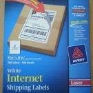 Avery 5126 White Internet Shipping Labels Laser 2/sheet 198 5.5 x 8.5 99 Sheets
