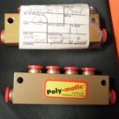 Poly Matic Nycoil Manifold 6 port 1//4 pneumatic lot 2