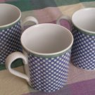 Villeroy n Boch Switch 3 Porcelain Lot 3 Mugs Castell Checkered