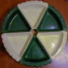Vintage Chip Dip Server Wedges Lazy Susan 6 Green Edit item   Reserve item