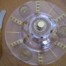 Georges Briard Cheese Caviar Canape 3-pc Dish Lid Server