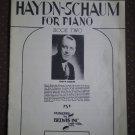 Haydn-Schaum for Piano Book Two 2 Belwin Sheet Music 1948