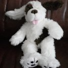 BABW Dog Build a Bear Workshop White Brown Plush Stuffed Toy