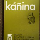 Kanina Vol 7 no 1 Jan-Jul 1983 Revista De Artes Y Letras