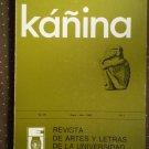 Kanina Vol 7 no 1 Jan-Jul 1983 Revista De Artes Y Letras