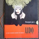Lido Cabaret Champs Elysees Paris Program 1966 Vintage Brochure Premiere