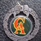California Angels Pewter Wreath Ornament LA Anaheim
